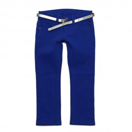 VINROSE Trousers slim fit girl cobalt blue