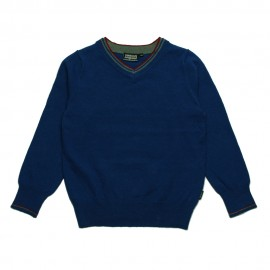 VINROSE Pullover V-neck boy blue