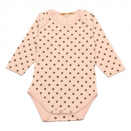 GOLD Bodysuit girl pink dots