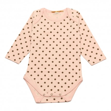 GOLD Romper cassie pink dots
