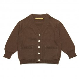 GOLD Cardigan V-neck boy chocolate brown