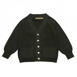 GOLD Cardigan V-neck boy dark grey