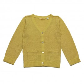 GOLD Cardigan V-neck girl mustard with a gold glow