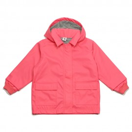 PETIT BATEAU Raincoat with hood girl coral pink