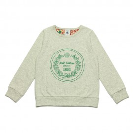 PETIT BATEAU T-shirt long-sleeved girl light grey