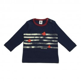 PETIT BATEAU T-shirt long-sleeved boy dark blue