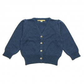 GOLD Cardigan V-neck girl blue grey