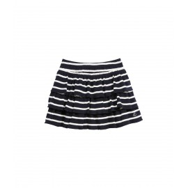 PETIT BATEAU Skirt with gathered ruffles girl dark blue