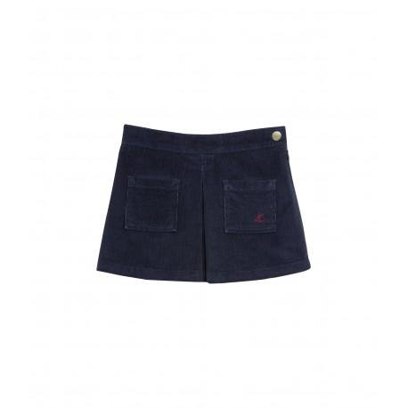 PETIT BATEAU Skirt corduroy blue