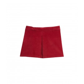PETIT BATEAU Skirt stretch corduroy girl bordeaux red