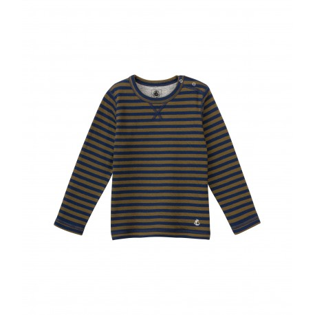 PETIT BATEAU Tshirt long sleeves reversible grey
