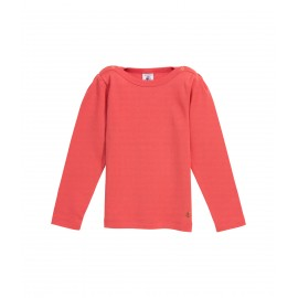 PETIT BATEAU T-shirt long-sleeved girl coral pink