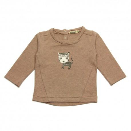- IMPS & ELFS - T-shirt kitten grey pink