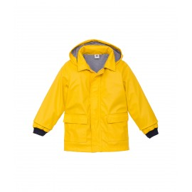 PETIT BATEAU Raincoat with hood unisex yellow