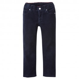 PETIT BATEAU Trousers velours straight fit boy dark blue