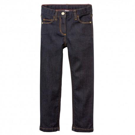 PETIT BATEAU Jeans denim 5-pockets girl dark blue