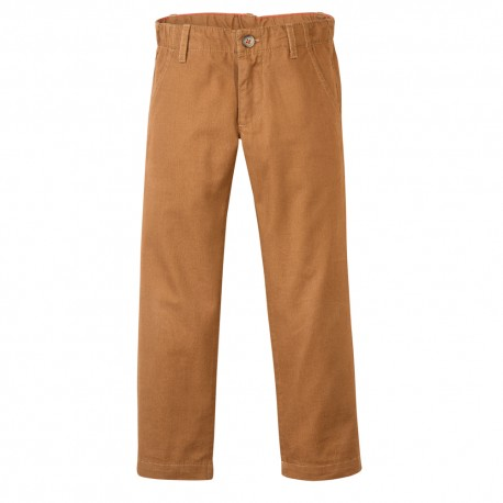 PETIT BATEAU Trousers chinos straight fit boy camel brown