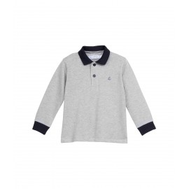 PETIT BATEAU Polo shirt long-sleeved boy grey