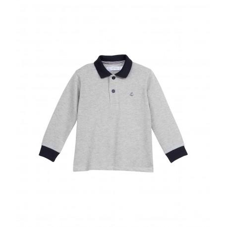 PETIT BATEAU Boy t-shirt long-sleeved grey