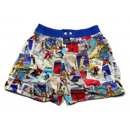 Mc ALSON Boxer short boy blue with ski resorts print