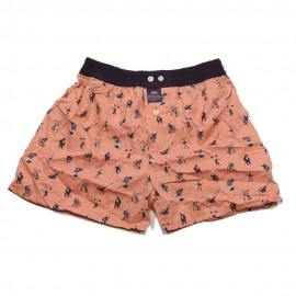 Mc ALSON Boxer short orange with circus print