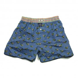 Mc ALSON Boxer short boy vichy blue with chicken print