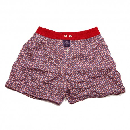Mc ALSON Boxer short boy delft blue with small flowers