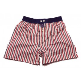 Mc ALSON Boxer short boy tricolor lines with X-mas tree print