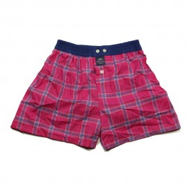Mc ALSON Boxer short boy squares fuchsia pink and blue
