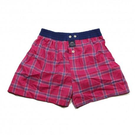 Mc ALSON Boxer short boy squares fuchsia pink / blue