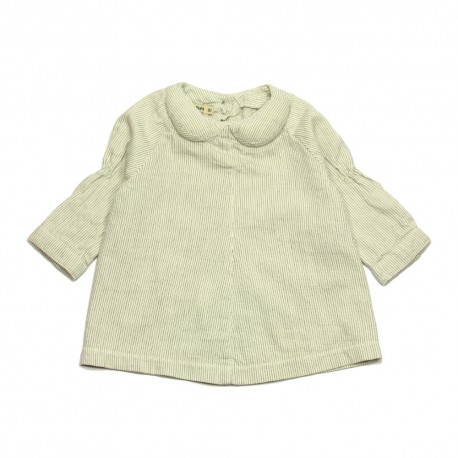 - IMPS & ELFS - Blouse offwhite with grey lines