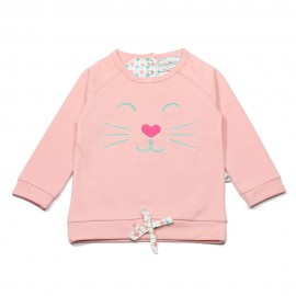 Ducky Beau pullover girl light pink
