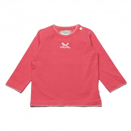 Ducky Beau t-shirt long-sleeved girl coral pink