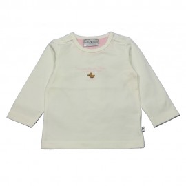 Ducky Beau t-shirt long-sleeved girl offwhite