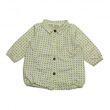 - IMPS & ELFS - Blouse offwhite with blue asterix
