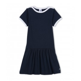 PETIT BATEAU Dress girl dark blue