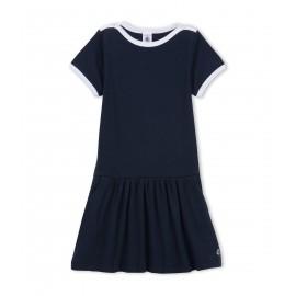 PETIT BATEAU Dress girl dark blue