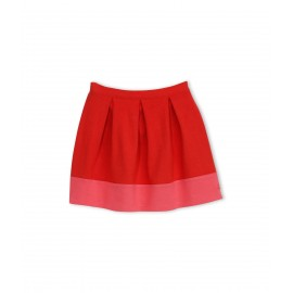 PETIT BATEAU Skirt girl red and fuchsia