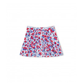 PETIT BATEAU Skirt girl with red lemons print