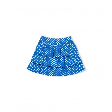 PETIT BATEAU skirt girl blue with white dots