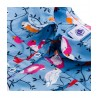 Petit Bateau blouse girl grey blue with lovebirds