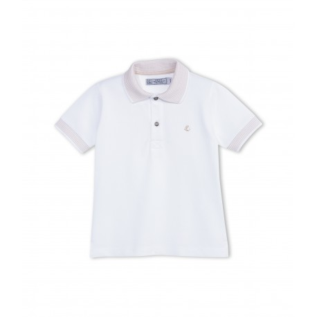 PETIT BATEAU polo shirt boy white