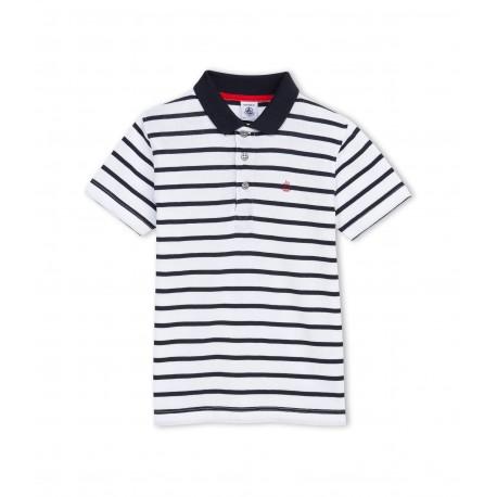 PETIT BATEAU Polo shirt boy marinière