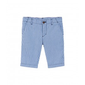 PETIT BATEAU Bermuda shorts boy striped cobalt blue and white