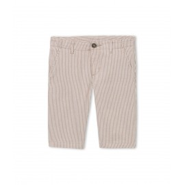 PETIT BATEAU Bermuda shorts boy striped beige and offwhite