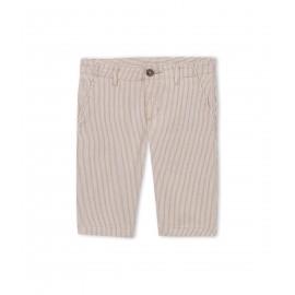 PETIT BATEAU Bermuda short boy striped beige