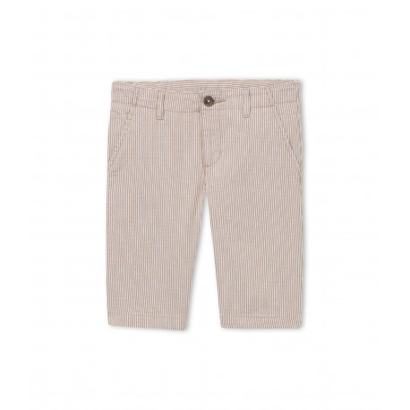 PETIT BATEAU Bermuda short boy striped beige