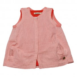 IMPS&ELFS Tunic organic cotton girl coral red