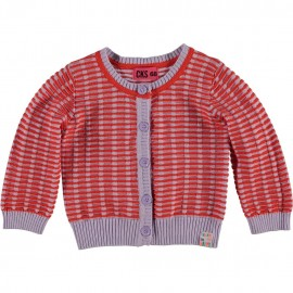 CKS Cardigan baby girl red and lilac