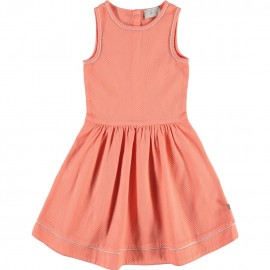 CKS Dress without sleeves girl coral